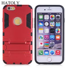 """For iPhone 6 Case Shockproof Robot Armor Hybrid Rugged Rubber Cover Slim Hard Back Kickstand phone Case For iphone 6s 4.7"""""""