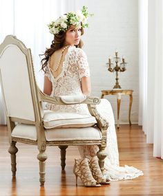 Bridal Hair by Remona - Virginia Hair & Makeup - Wedding day hair with long, loose curls and flower crown
