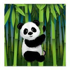 Panda Climbing Bamboo Beach Towel Beaches Pandas And Gifts