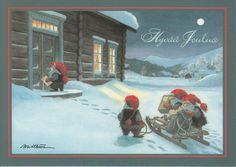 Kjell E.Midthun - Gnomes post vervoeren. -