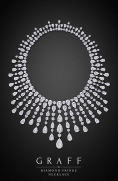 Graff Diamonds: Diamond Fringe Necklace too long of a fringe