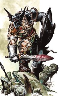 The Unnameable Hierarch managed to rebuild his organization so quickly in large part due to the influence of a ruthless fighter named Warduke, a mysterious and relentless killer who emerged from nowhere after the Greyhawk Wars to spread terror and uncertainty among mercenaries, soldiers, and fighting societies from the Barrier Peaks to the Solnor Ocean.