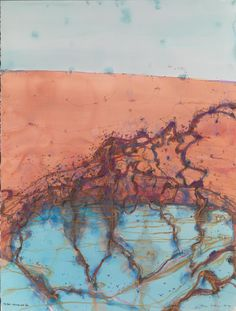 The Flood - Towards Lake Eyre Abstract Landscape Painting, Landscape Art, Landscape Paintings, Abstract Art, Australian Painting, Australian Artists, Summer Painting, Murals Street Art, Nature Artists