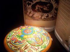 Светильник ручной росписи Сказки индейцев - этно,светильник,лампа,ручная роспись