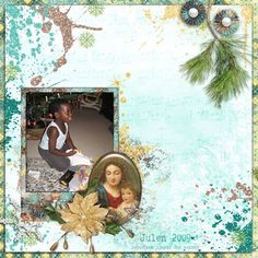 "Layout made with kit ""Angels Choir""."
