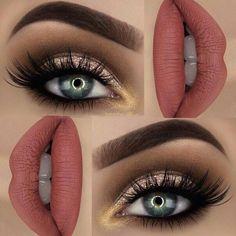 "Glitter 💖BROWS: Dipbrow ""Chocolate"" ✨EYES: Semi-Sweet palette ✨ Super foils shadow on the lid ✨ Tartiest metallic shadow ""Hussy"" ✨ ""iconic lashes"" ✨ eye pencil ""darkest shadow"" ✨LIPS: Velvetine liquid lipstick ""Bleached"" ✨ Gorgeous Makeup, Love Makeup, Makeup Inspo, Makeup Inspiration, Dress Makeup, Fall Makeup, Makeup Goals, Makeup Tips, Beauty Makeup"