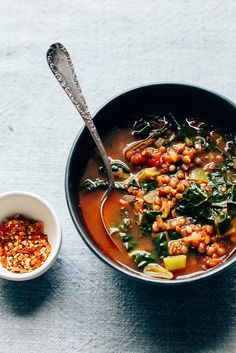 INSTANT COZY: LENTIL + GREENS SOUP via The First Mess