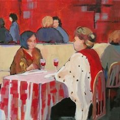 After the Theatre, painting by artist Carolee Clark