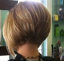 Image result for Inverted Stacked Bob Hairstyles Back View