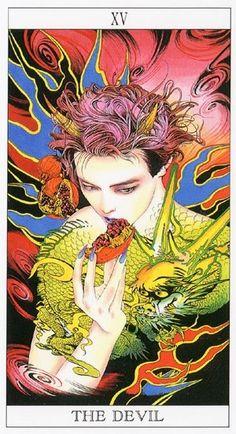 the Moonprincess Himiko Tarot by Ayumi Kasai.