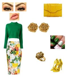 """""""Flower frenzy"""" by kay-byrd ❤ liked on Polyvore featuring Melissa McCarthy Seven7, DKNY, Khirma Eliazov, Liberty, Allurez and plus size clothing"""