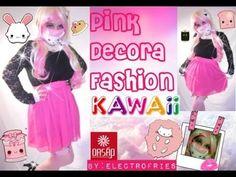 Kawaii Pink Decora Fashion By:Electrofries Watch HD: https://www.youtube.com/watch?v=wyA3ICxL-h0  Pink Fishnet tight socks: http://www.oasap.com/tights-socks/2109-captivate-lace-cuff-fishnet-socks.html/?fuid=137840 Price:$3.00  Bottom: Skirt http://www.oasap.com/skirts/27767-candy-color-skater-skirt.html/?fuid=137840 Price:$9.90  Necklace: http://www.oasap.com/necklaces/33317-fake-pearl-collar-necklace.html/?fuid=137840 Price:$9.90