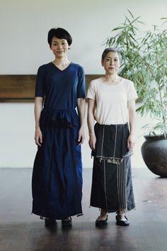 ババグーリの手織りコットンまきスカート