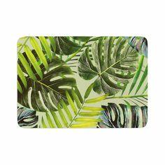 "Alison Coxon ""Jungle Green"" Green Yellow Memory Foam Bath Mat"