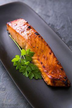 Hoisin Glazed Salmon Recipe on SimplyRecipes.com