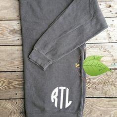 Personalized Comfort Colors Sweatshirt; Monogrammed Sweatshirt; 1566 Comfort Colors Over-sized Sweatshirt; monogrammed sweatshirt y3RHP9Z