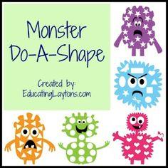Monster Do-A-Shapes