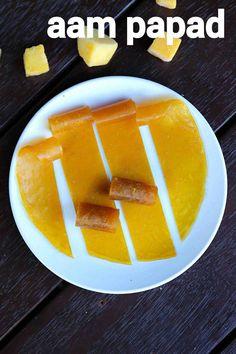 aam papad recipe, mango papad, aam ka pappad recipe with step by step photo/video. sun dried mango pulp recipe served as confectionery or condiments. Indian Dessert Recipes, Indian Sweets, Indian Snacks, Kathi Roll Recipe, Pulp Recipe, Mango Pulp, Best Cinnamon Rolls, Dried Mangoes, Mango Recipes