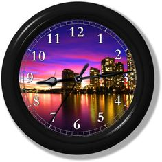 """City Sunset Wall Clock from Clocks Galore 
