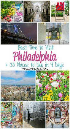 The City of Brotherly Love is quite. With endless amounts of things to do, Philly will pique your interest and keep you on your toes. Use this guide to find out the best time to visit Philadelphia and see these 25 Cool Places To Visit, Places To Travel, Travel Destinations, Solo Travel, Travel Usa, Visit Philadelphia, Philadelphia Attractions, Historic Philadelphia, Visit Philly
