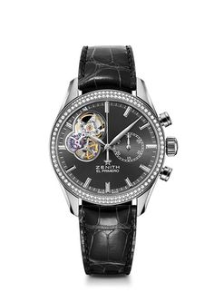Zenith  - El Primero Chronomaster Open Lady - Discover a prestige watch for women with diamonds, slate grey dial and bracelet, from the El Primero collection.