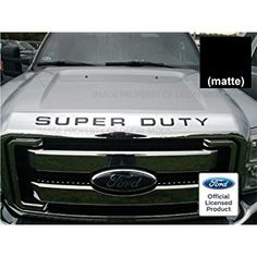 Ford SUPER DUTY Letter Inserts (thin decal) for Hood / Grille (2008-2016) F250 F350 F450 sticker