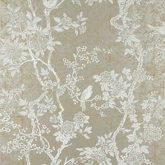 This would brighten a dark hallway - Ralph Lauren Chinoiserie wallpaper: MARLOWE FLORAL - STERLING