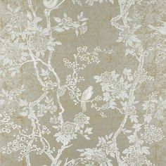 Marlowe Floral - Sterling - Archival English Papers - Wallcovering - Products - Ralph Lauren Home - RalphLaurenHome.com