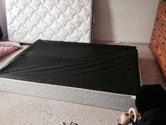 1 - Turn the box spring upside down.