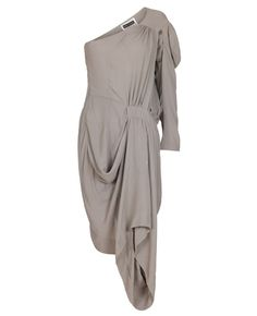 FUTURE CLASSICS  Single-sleeve avant toga dress in grey