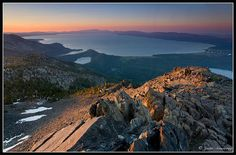 Lake Tahoe from the top of Mt. Tallac. www.TahoeActivities.com