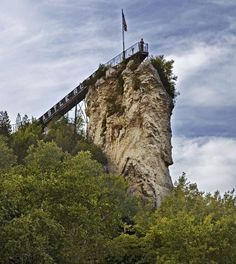 Castle Rock near Ignace, Michigan Best Roadside Attraction… Michigan Vacations, Michigan Travel, Detroit Michigan, Lake Michigan, Petoskey Michigan, Castle Rock Michigan, Holland, Mackinaw City, Mackinac Island