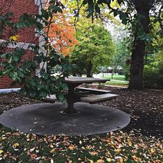 When it's not snowing outside, the tables near the old power plant offer pretty views to help you study ;) (photo: @zeeennaaah)