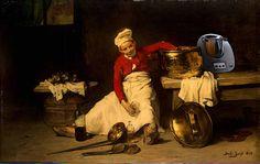 Joseph Bail, Jungkoch in der Küche (1893) – Thermomix