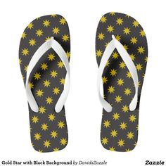 Gold Star with Black Background Flip Flop Sandals Available on many products! Hit the 'available on' tab near the product description to see them all! Thanks for looking!     @zazzle #art #star #pattern #shop #chic #modern #style #fun #neat #cool #buy #sale #shopping #men #women #sweet #awesome #look #accent #fashion #clothes #apparel #accessories #accessory #shoes #sandals #flip #flops #high #tops #low #slip-on #navy #blue #gold #black #purple #orange #grey #gray