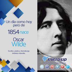 Un día como hoy 16 de octubre pero de 1854 nace Oscar Wilde, escritor, poeta y dramaturgo británico-irlandés.