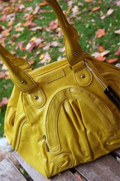 Namaste Zuma bag in Canary Yellow- knitting bag- comes in orangish and teal too.