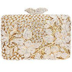 e36b6a8a7 Fawziya Kisslock Flower Purses With Rhinestones Crystal Clutch Evening Bag