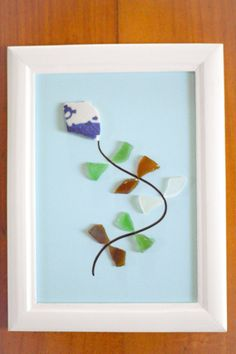 Items similar to Okinawa Pottery and Sea glass Kite Nursery Room Wall Art on Etsy Sea Glass Crafts, Sea Glass Art, Glass Wall Art, Stained Glass Art, Sea Glass Jewelry, Window Glass, Water Glass, Fused Glass, Glass Beads