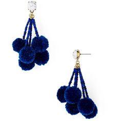 Baublebar Caicos Pom-Pom Drop Earrings ($36) ❤ liked on Polyvore featuring jewelry, earrings, earring jewelry, poms jewellery, drop earrings, baublebar jewelry and pom pom drop earrings