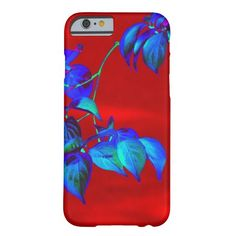 Red Sky Blue Leaves iPhone 6 case