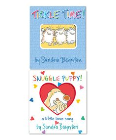 Loving this Tickle Time & Snuggle Puppy Board Book Set on #zulily! #zulilyfinds