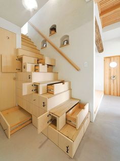 Space-Saving Stairs  There you go Bob Villa ..make someone this ..what a great Idea ..