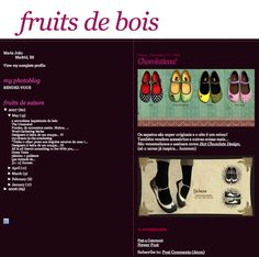 Blog > Fruits de bois - 2006 #chocolaticas #hotchocolatedesign #fashion #shoes #hcd