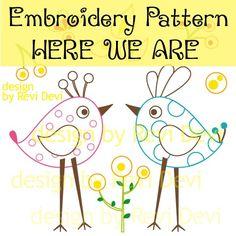 Embroidery Pattern  birds