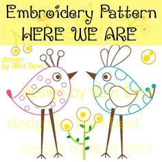 Embroidery Pattern  birds