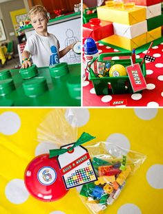 LEGO Party! Love the idea for Camden! Plus it would go with a super cute Lego cake idea I found!
