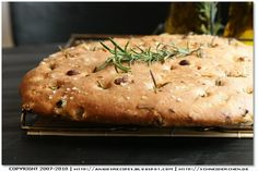 Rosemary Cranberry Focaccia with Pine Nuts