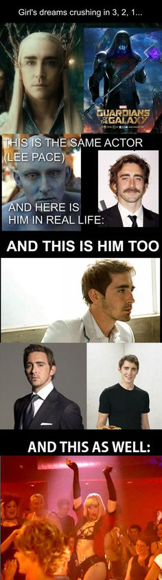 The Many Faces Of Lee Pace That last one XD  #Crying
