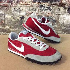 Nike Mens Waffle Racer Trainers Grey/Red sz 9.5 Vintage Sneakers US 10.5 EU 44.5